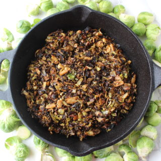 Stovetop sides: Crispy shredded brussels sprouts with balsamic mustard vinaigrette