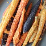 Roasted Carrots with Vegan Harissa Aioli