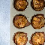 Roasted potato stacks in muffin tin